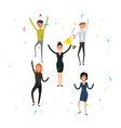 happy young business peoplebusiness team of vector image