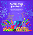 organization of fireworks festival pyrotechnic vector image