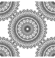 Seamless pattern Mandala with decorative ornament vector image