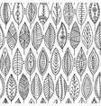 seamless pattern with ornamental leaves vector image
