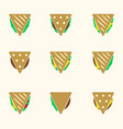 Set of color tortilla or sandwich tacos food vector image