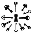 Set of Keys vector image