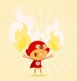 super kid powers vector image