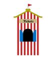 ticket shop tent vector image