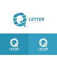 unique letter q logo design template vector image