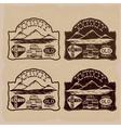 whiskey vintage labels set vector image