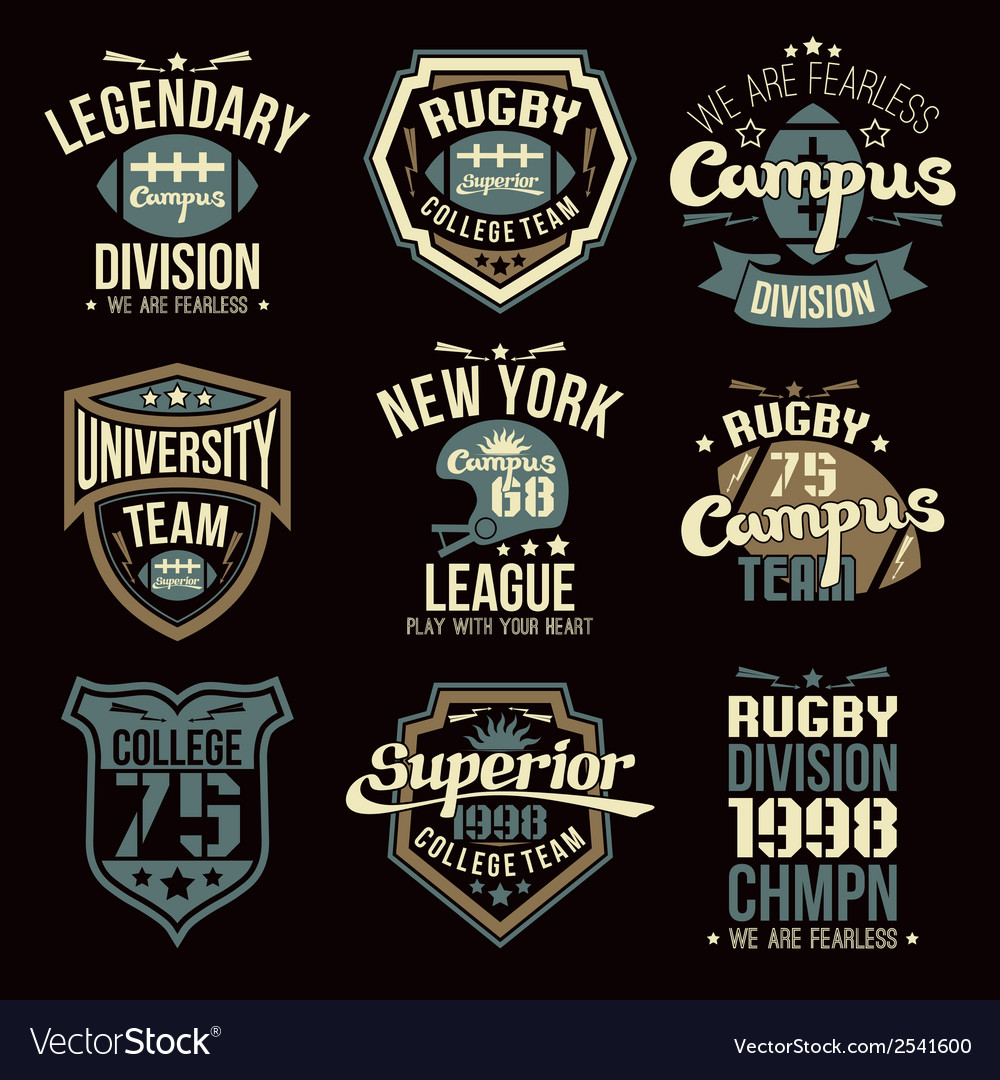 College-rugby-team-emblems-vector