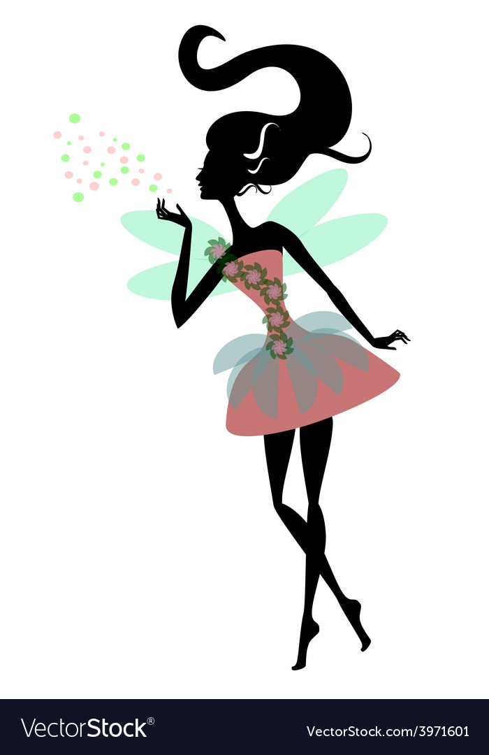 Magic fairy with wings vector