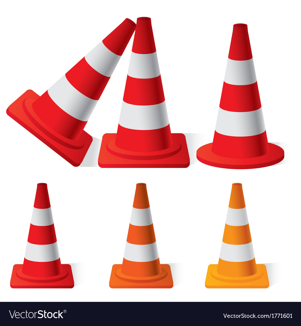 Safety traffic cones vector
