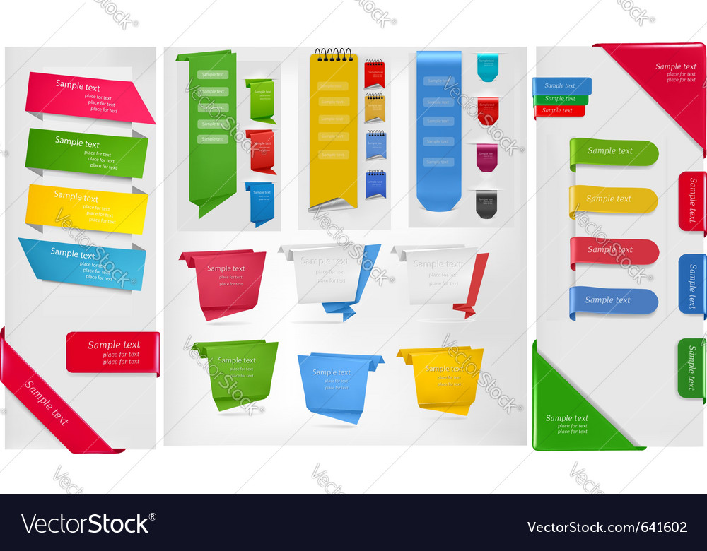 Stickers and banners vector