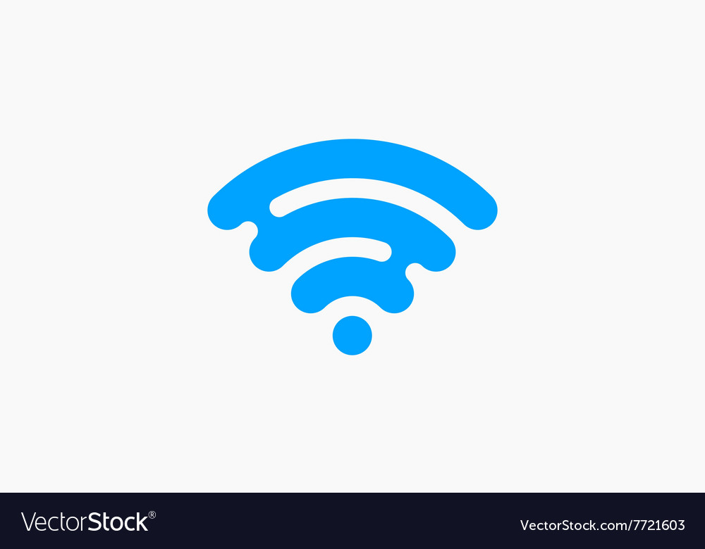Wifi network icon blue logo creative logo vector
