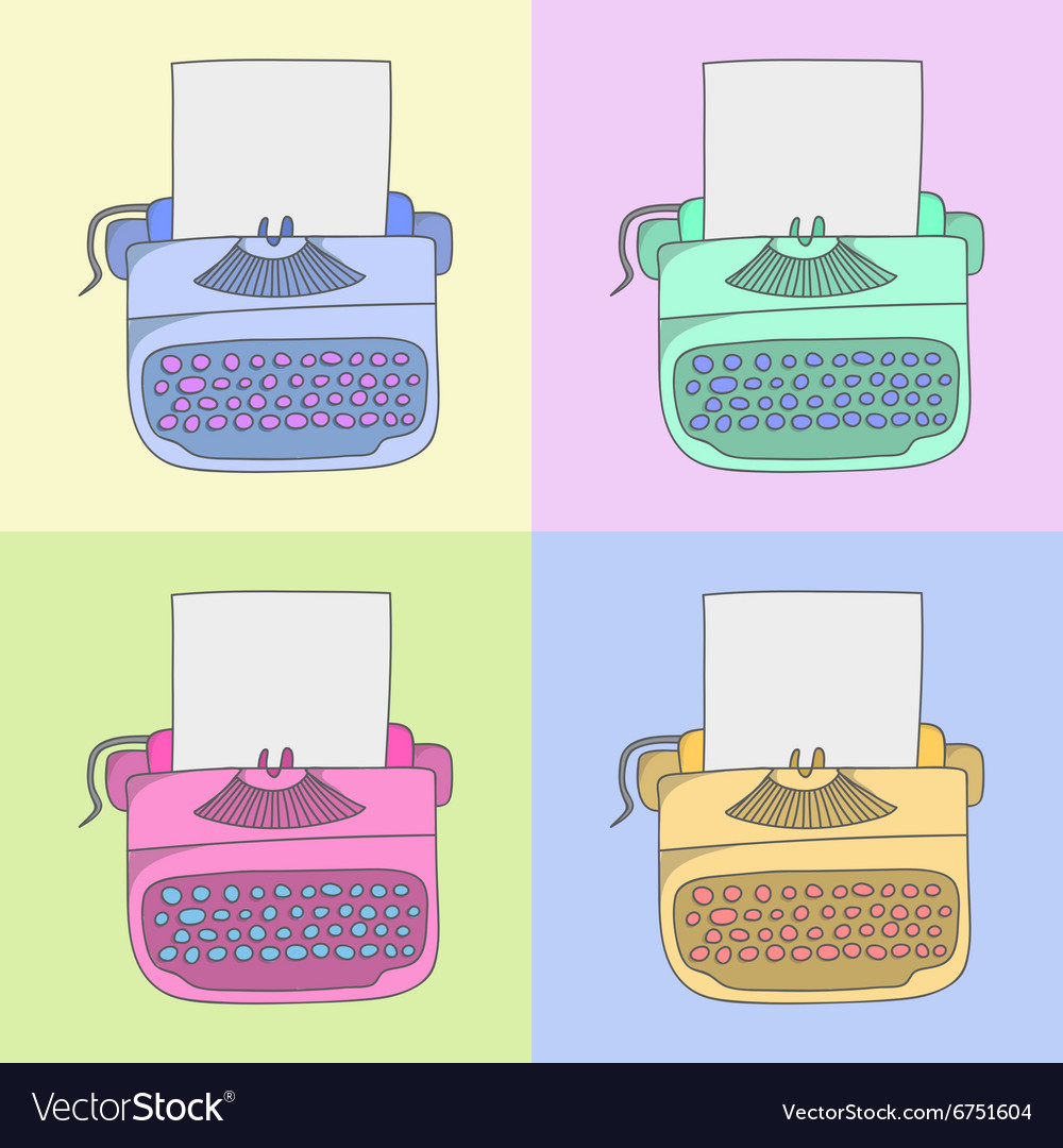 Stylish typewriter vector