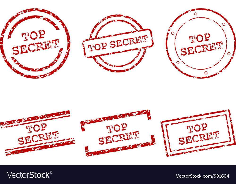 Top secret stamps vector