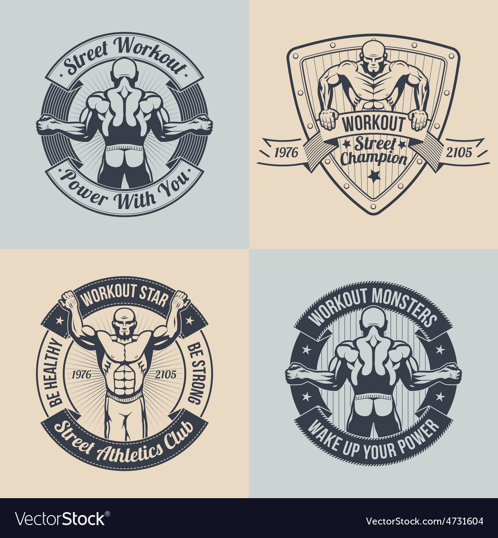 Workout club vector