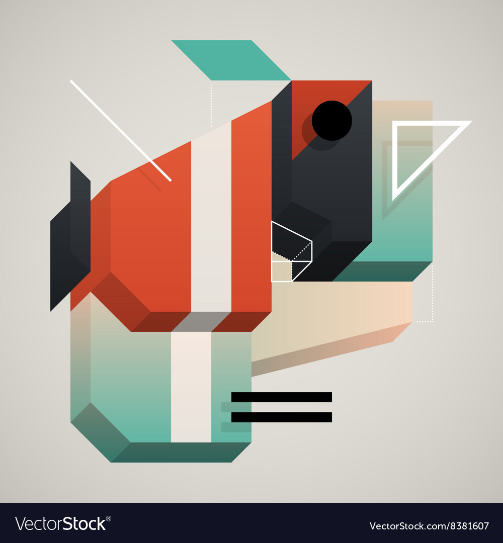 3d abstraction vector