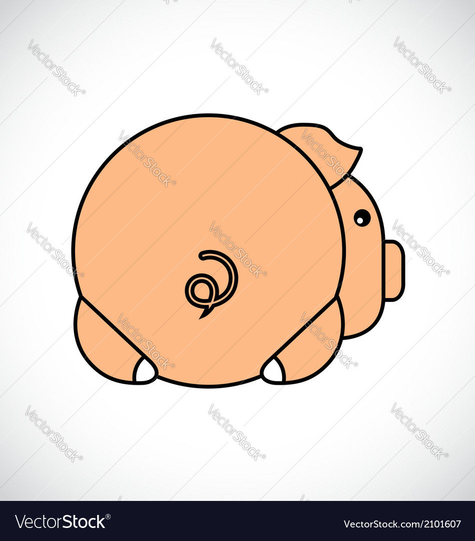 Backside of a pig vector