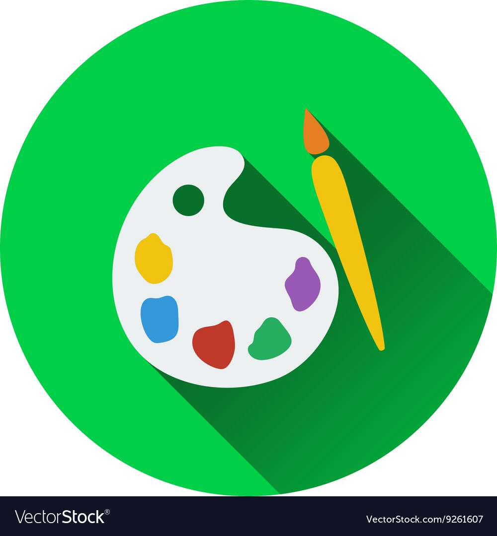 Flat design icon of school palette in ui colors vector