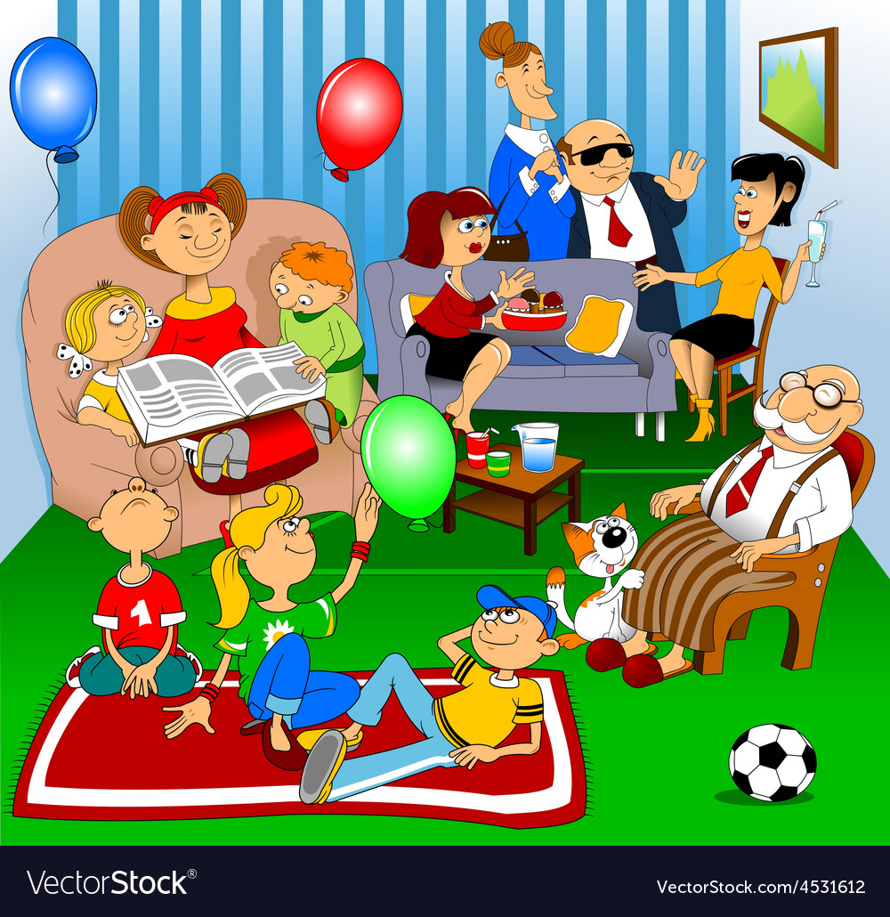 Friends and family celebration vector