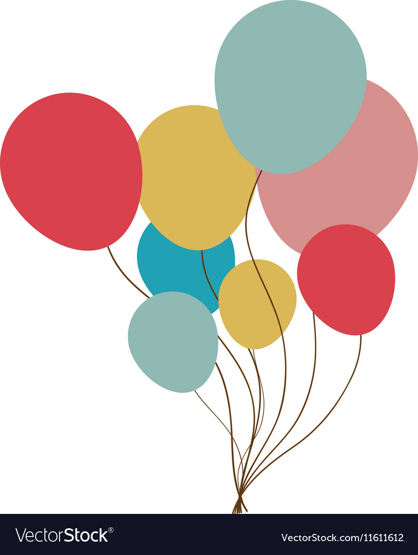 Party balloons icon image vector