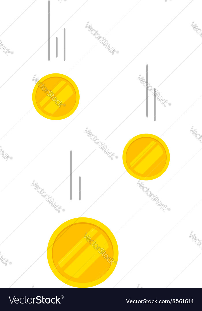 Falling coins money flying vector
