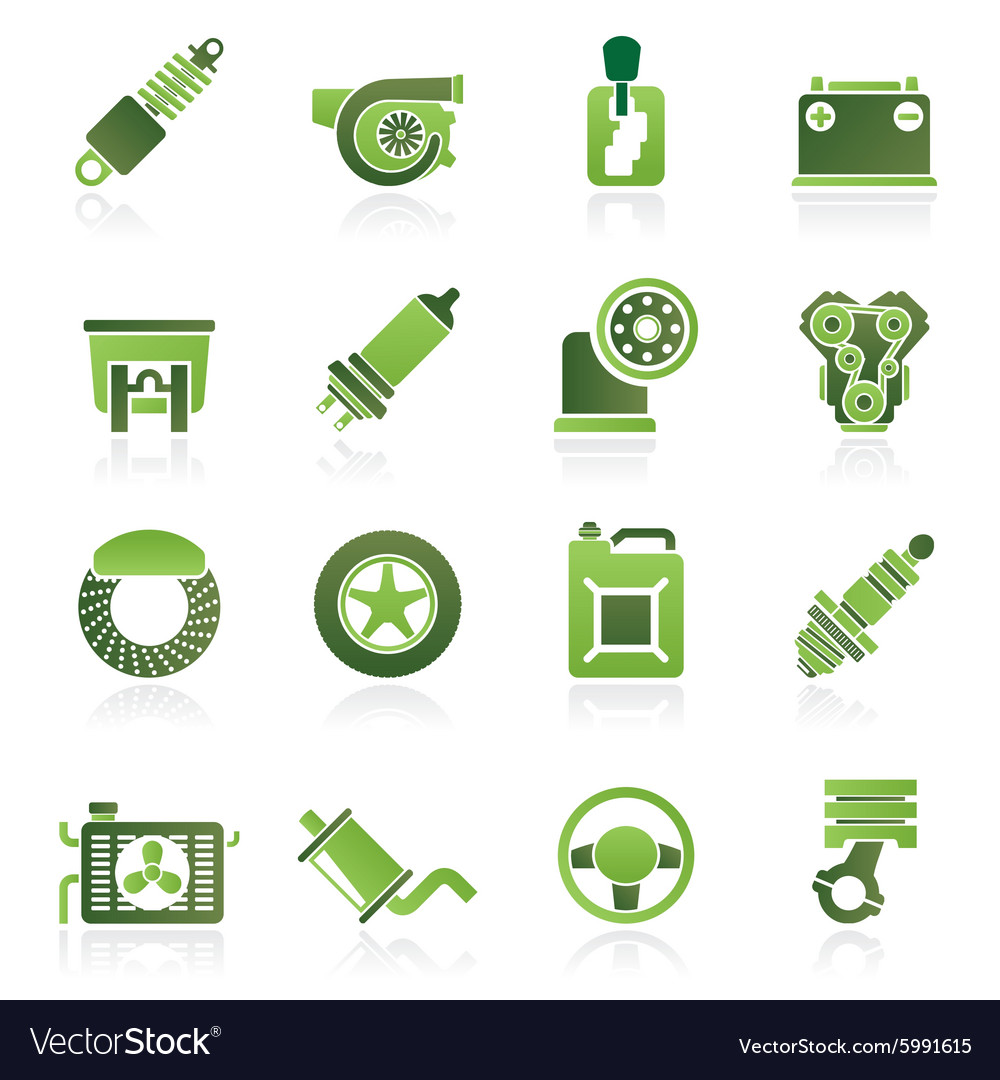 Car part and services icons vector