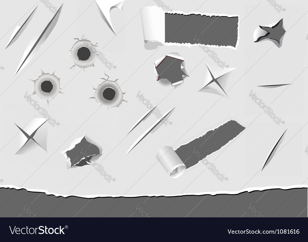 Set of turned paper elements vector