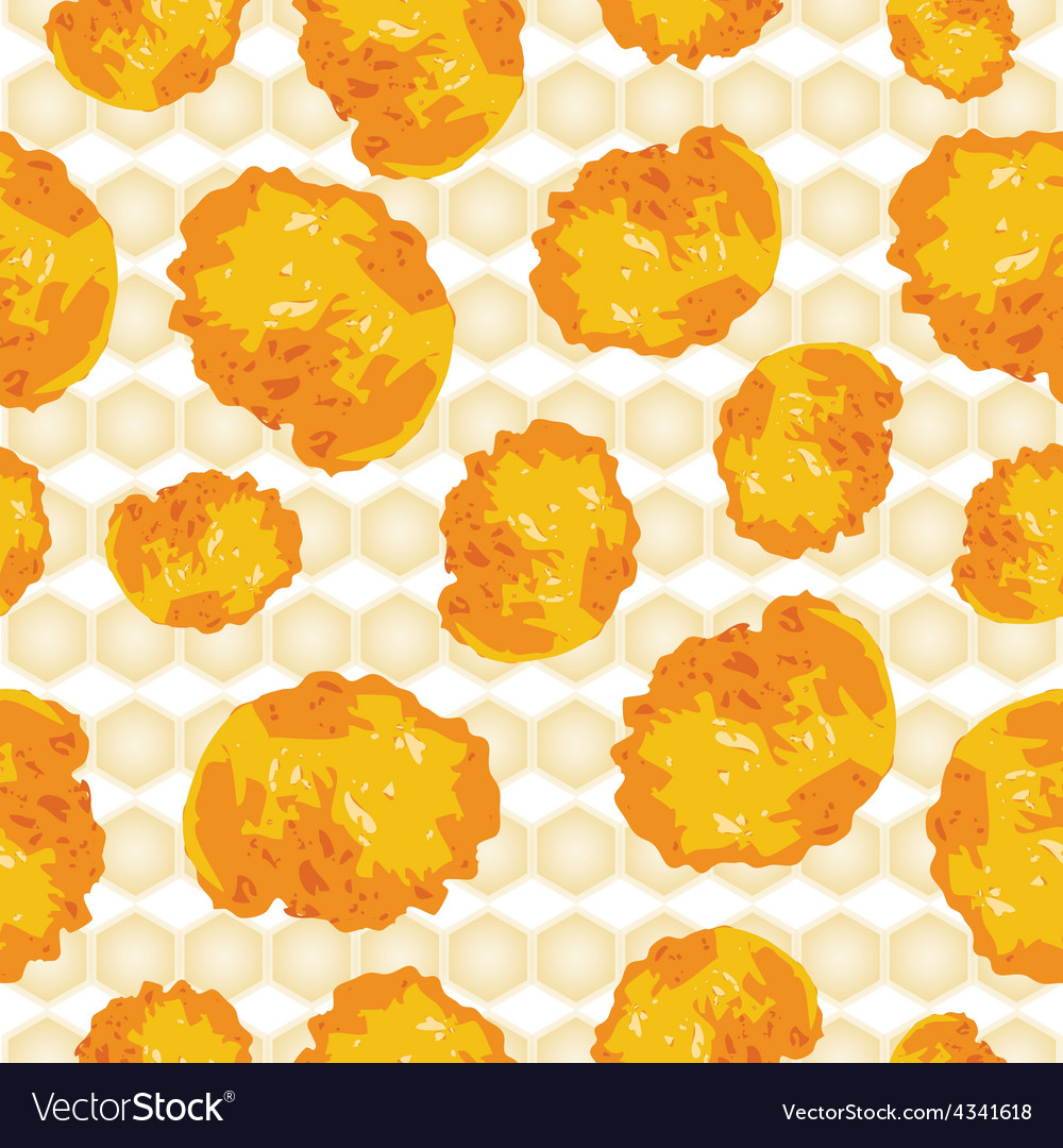 Cornflakes background seamless scattered vector