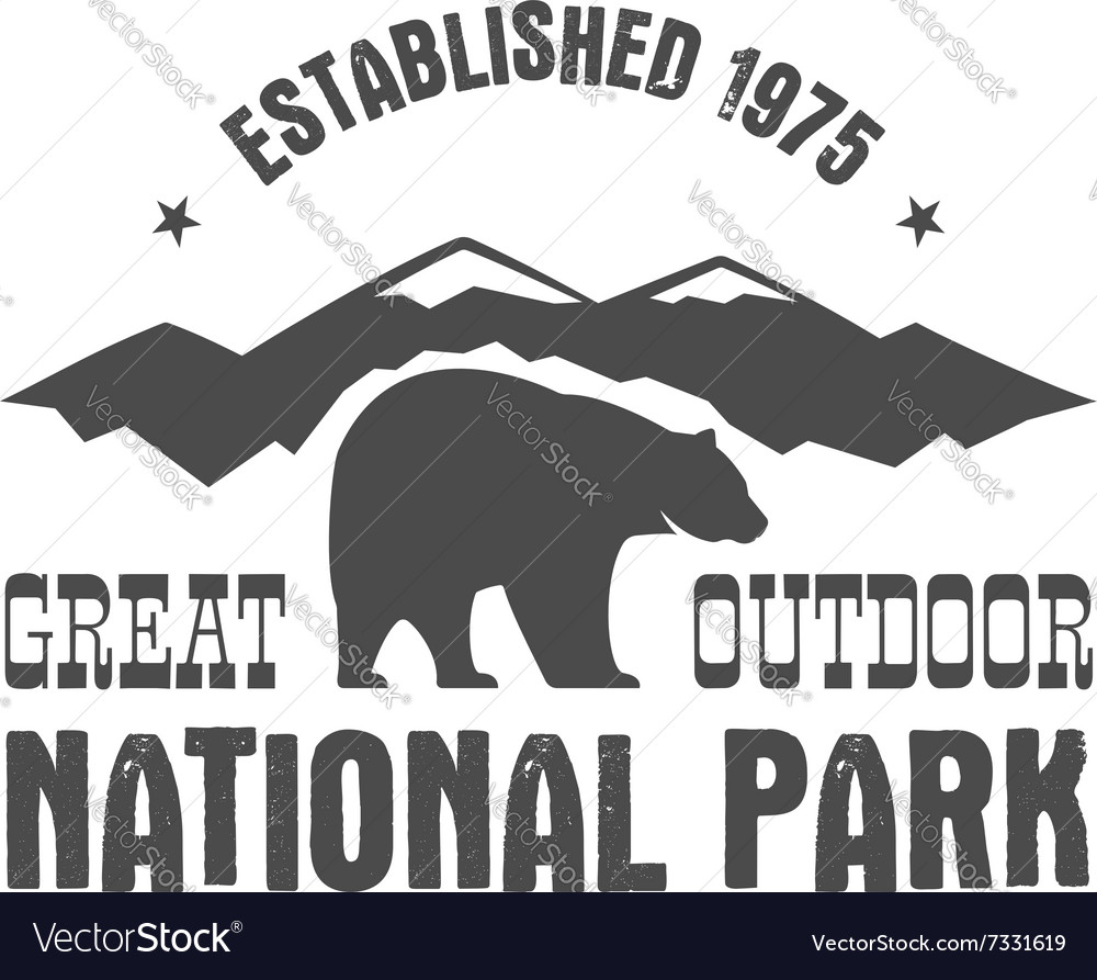 National park old style badge mountain explorer vector