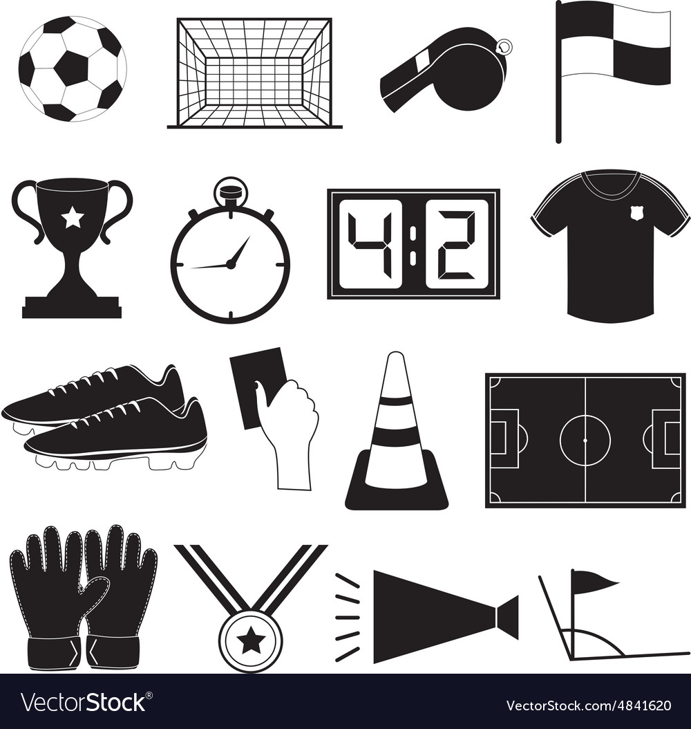 Soccer or football icons set vector