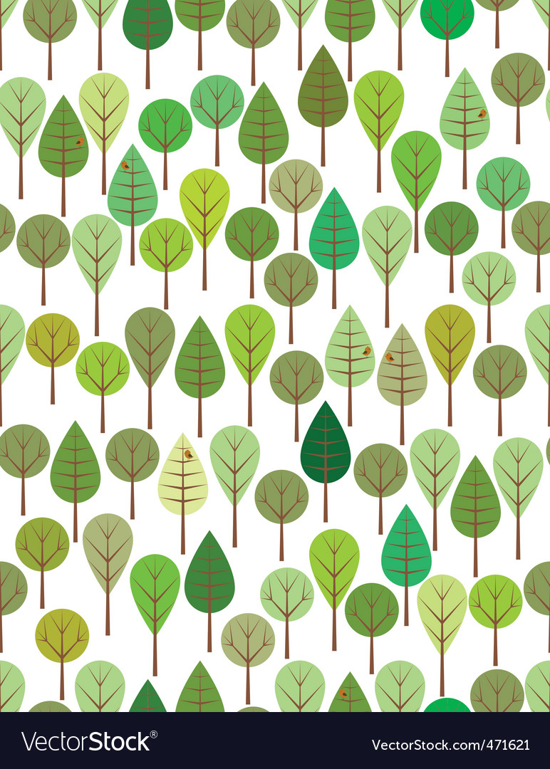 Green woods vector