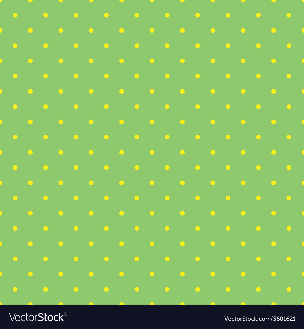 Tile pattern with small yellow polka dots on green vector