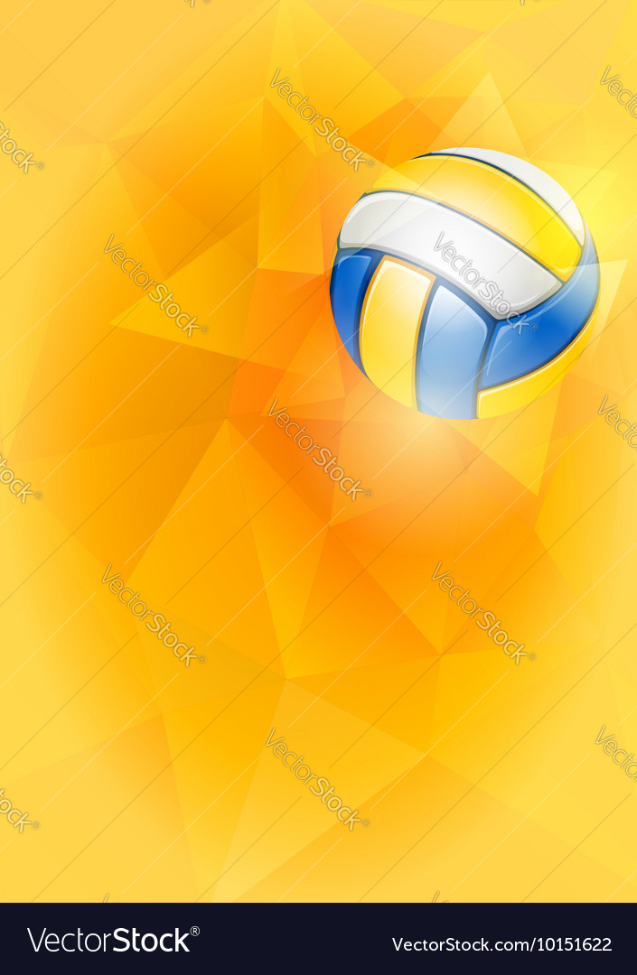 Volleyball card vector