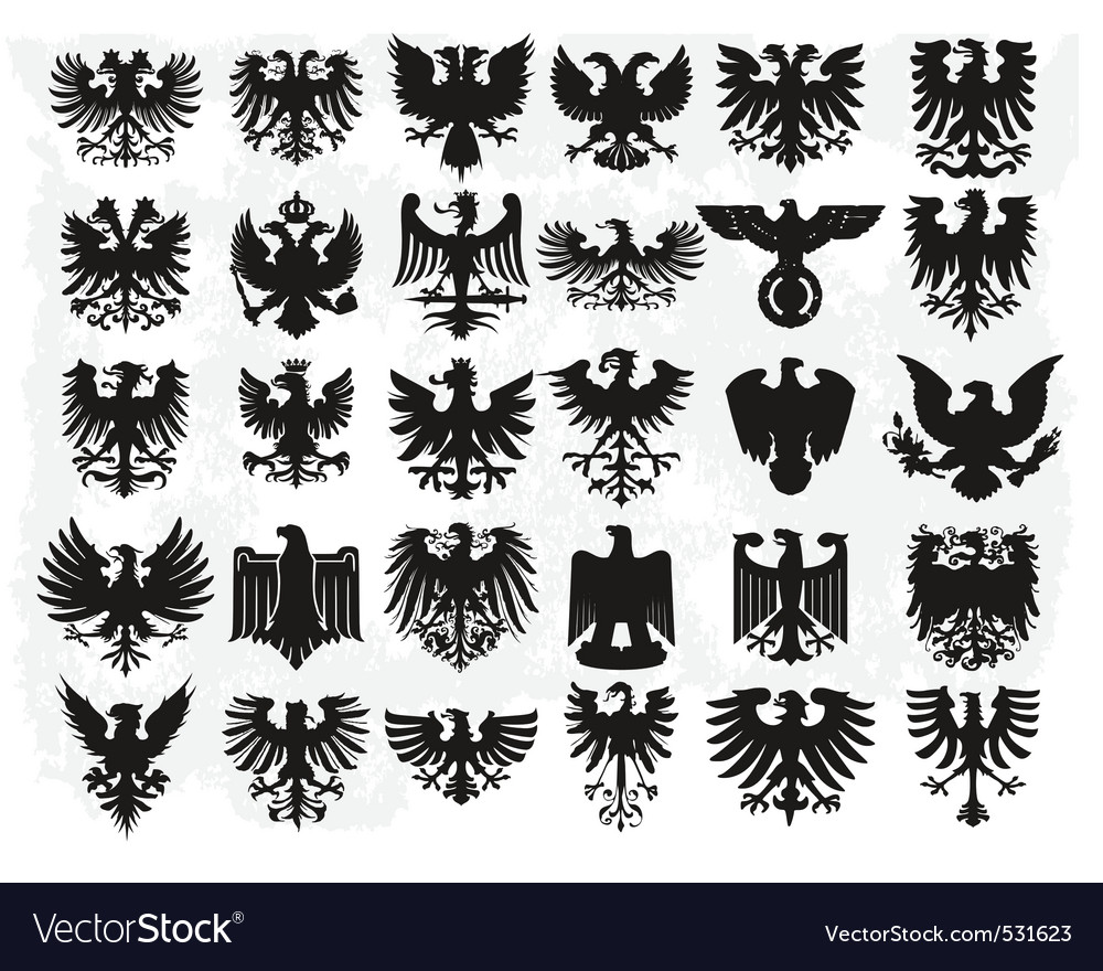 Heraldiic eagles vector
