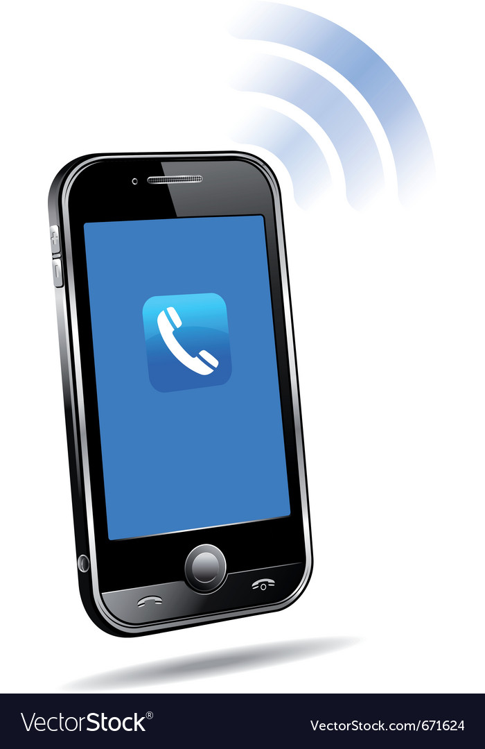 Cell phone ringing vector