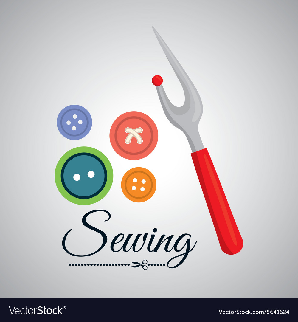 Sewing designtextile icon tailor shop concept vector