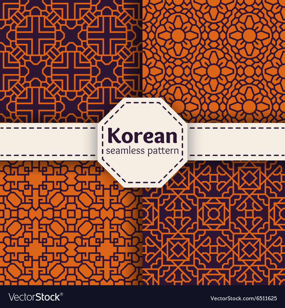 Korean or chinese tradition seamless vector