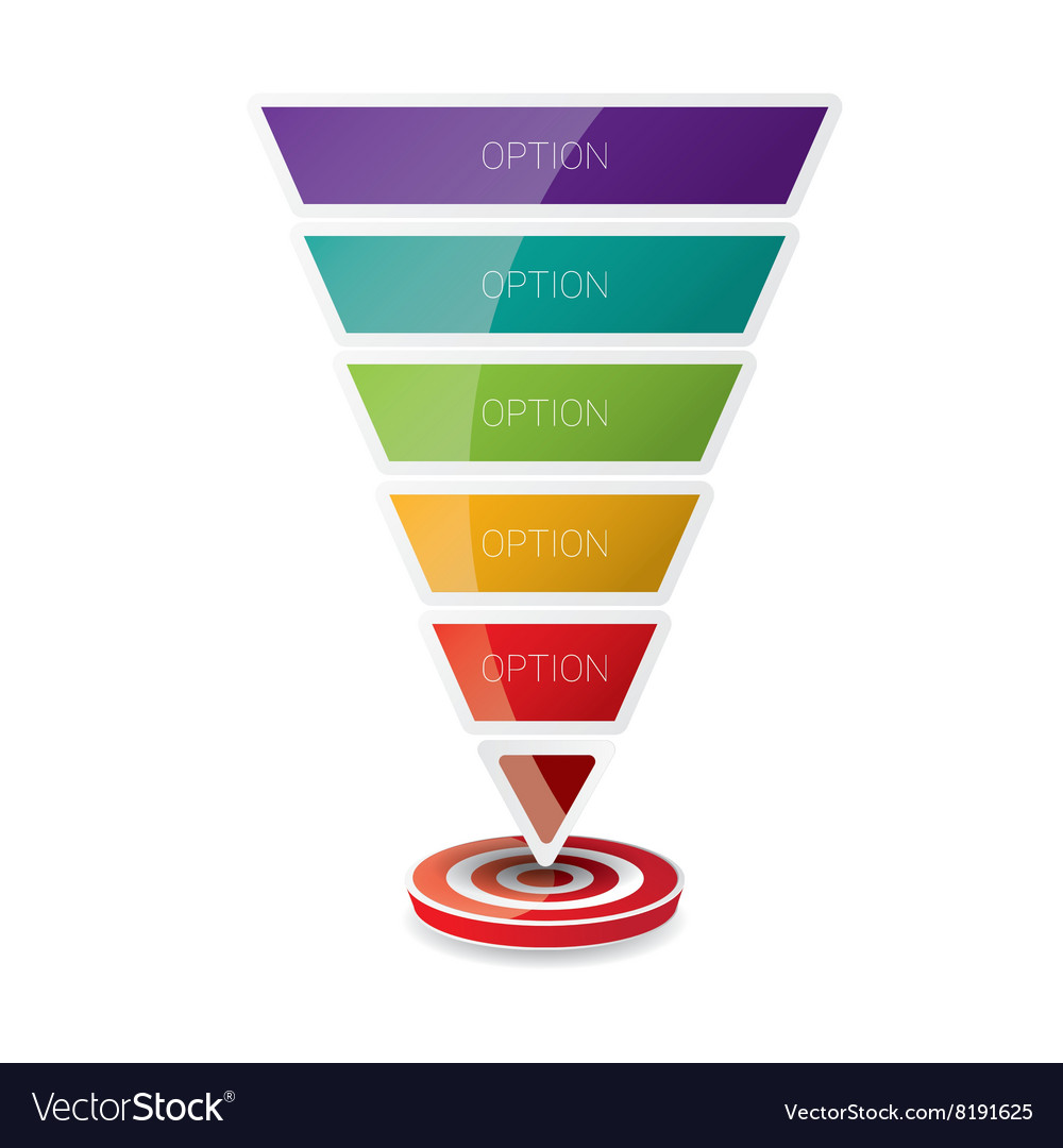 Sales funnel vector