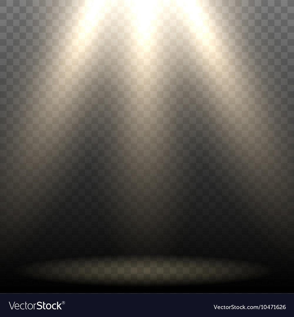 Empty stage lighting vector