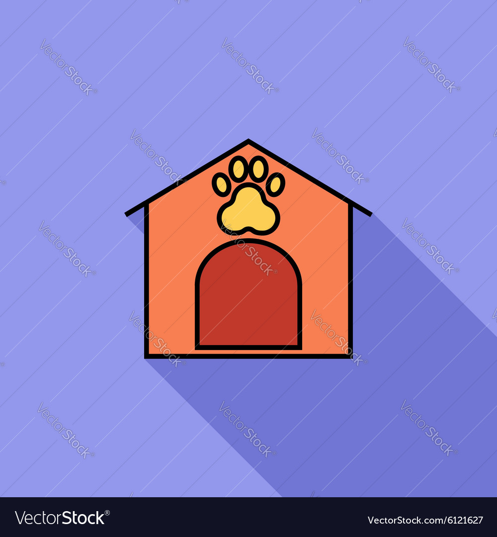 Kennel icon vector