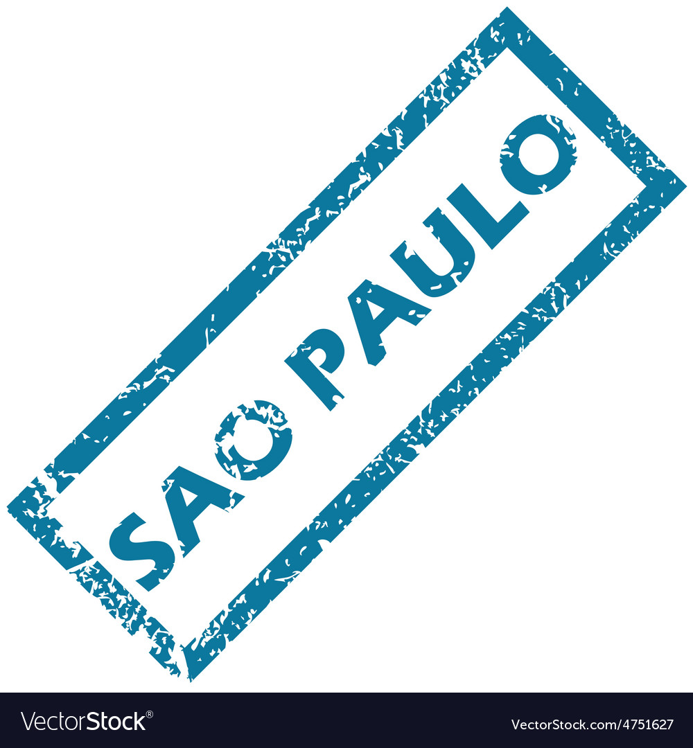 Sao paulo rubber stamp vector