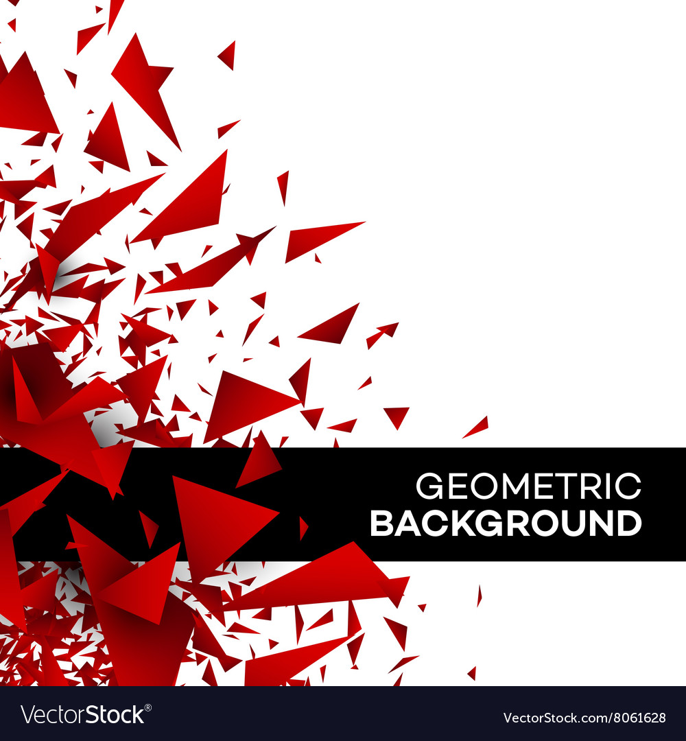 Red polygon background flyer template brochure vector