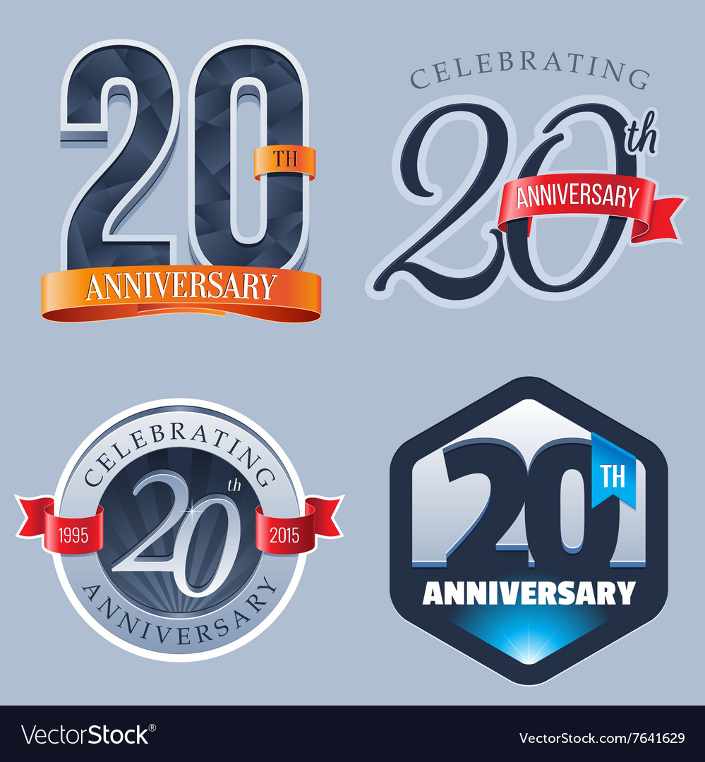 20 years anniversary logo vector