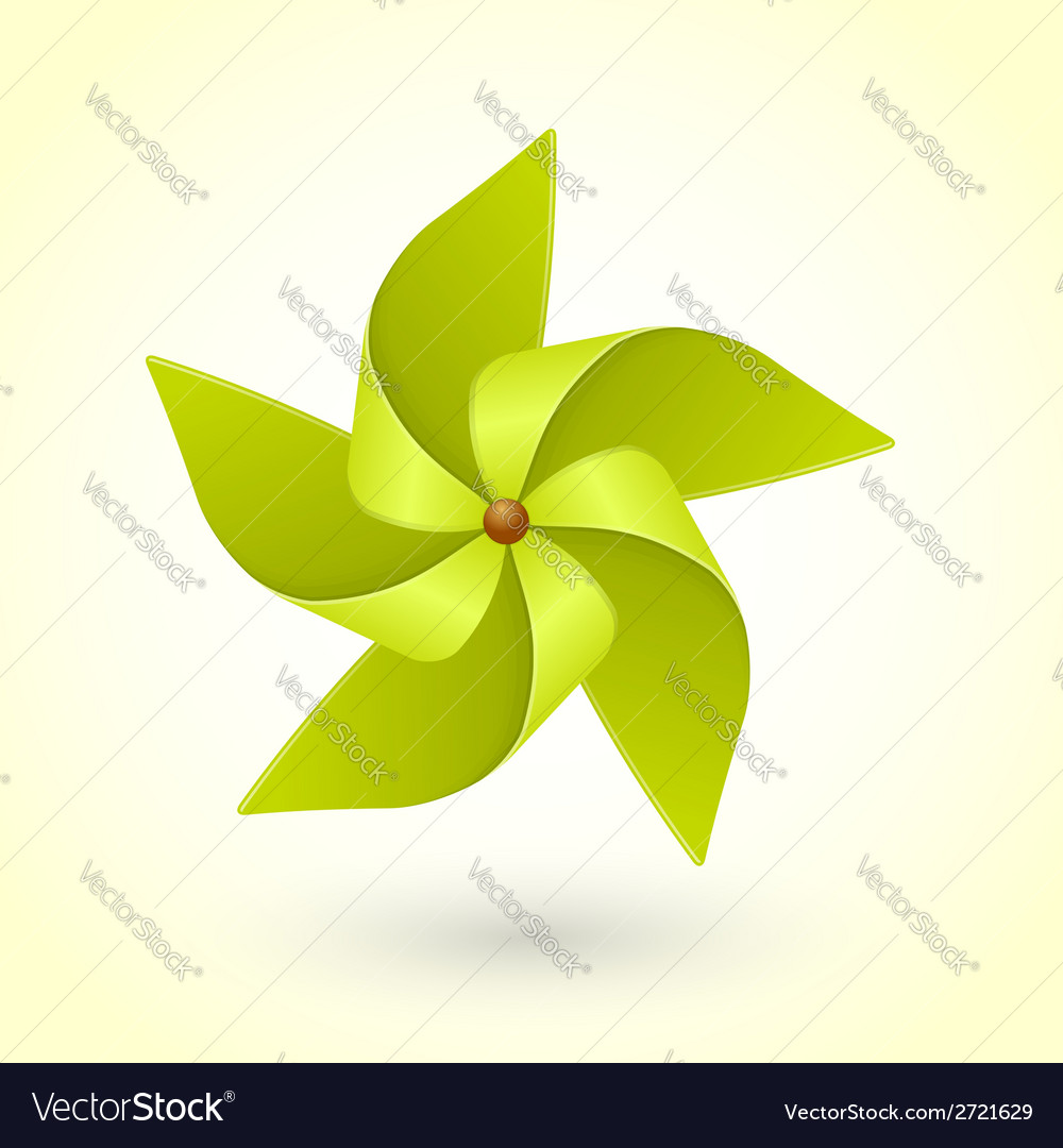 Colorful eco green pinwheel vector