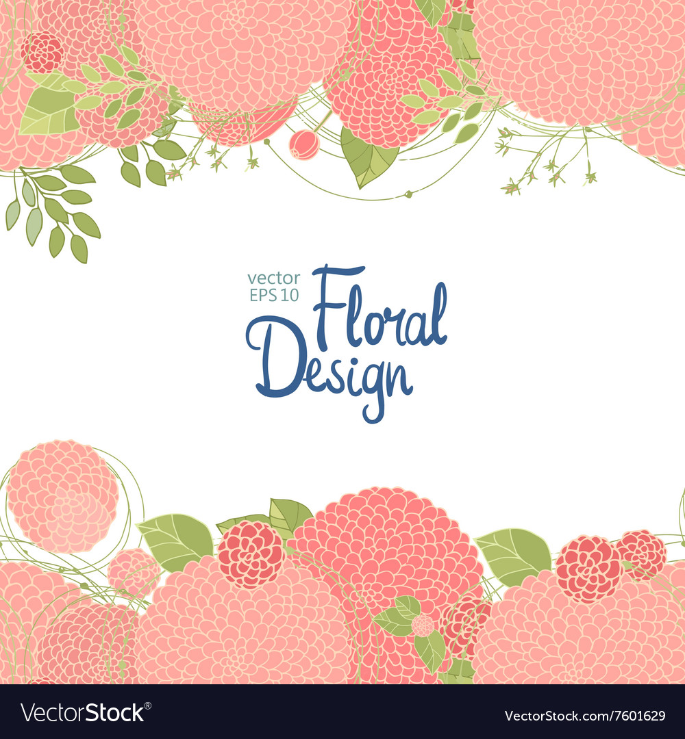 Hand drawn floral border vector