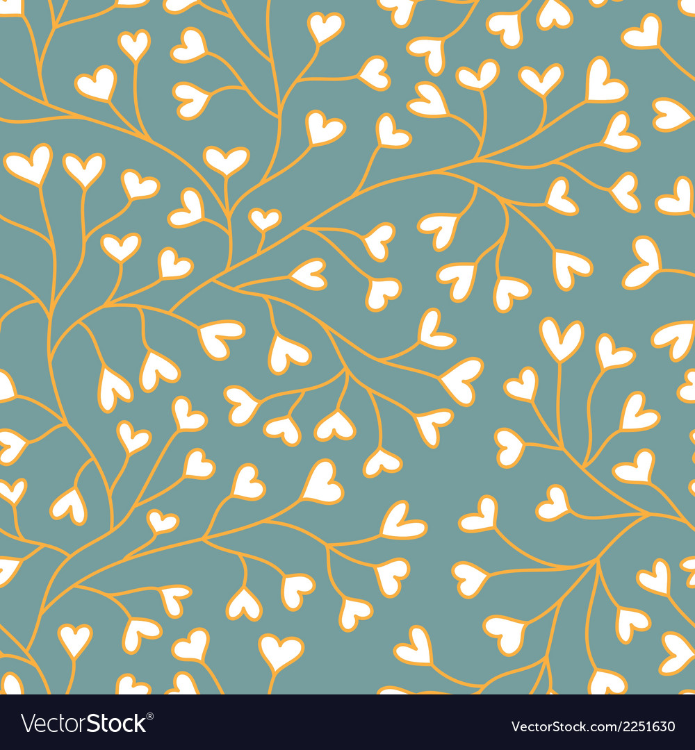 Seamless backgroung with hearts vector