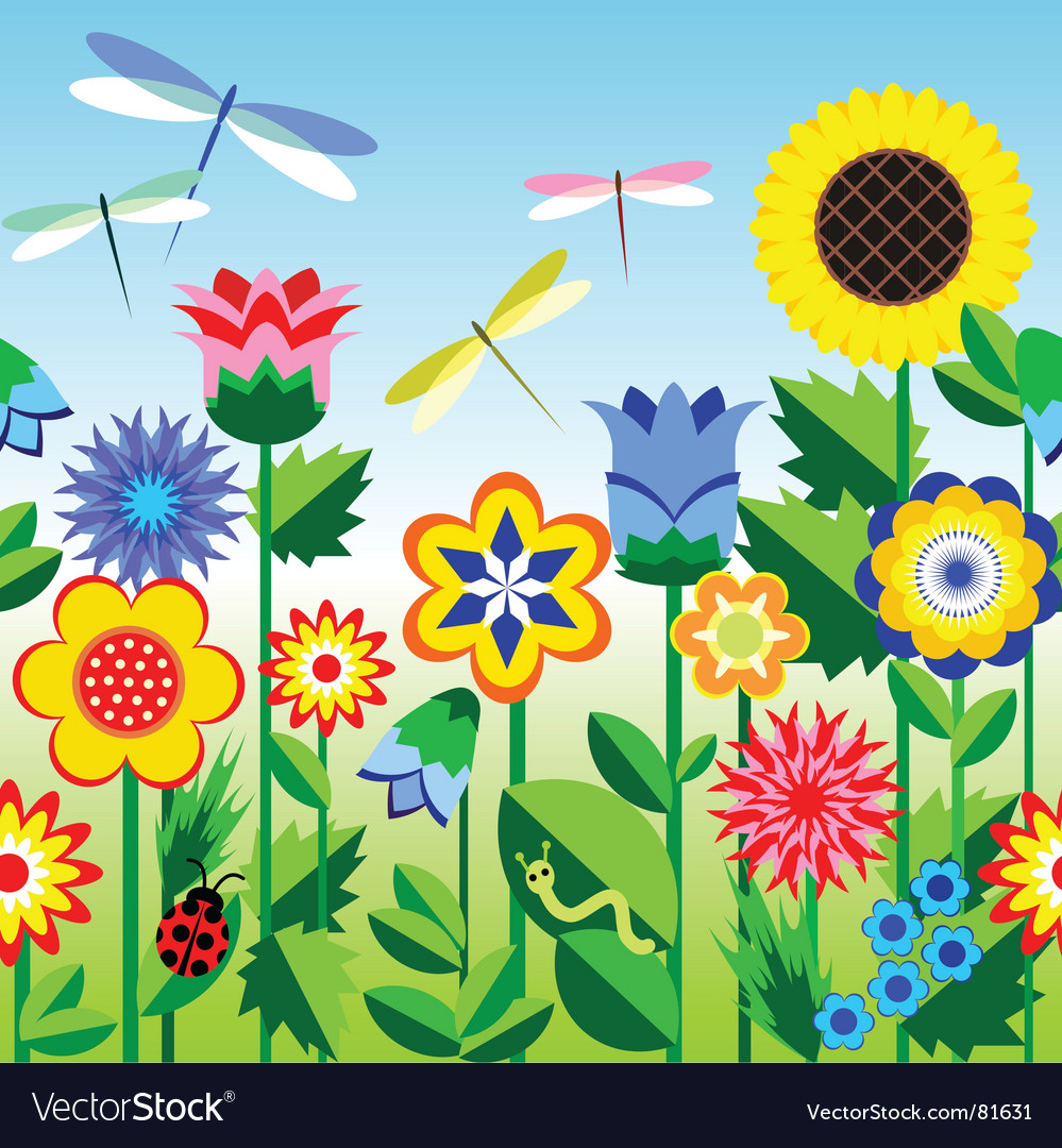 Flower strip vector