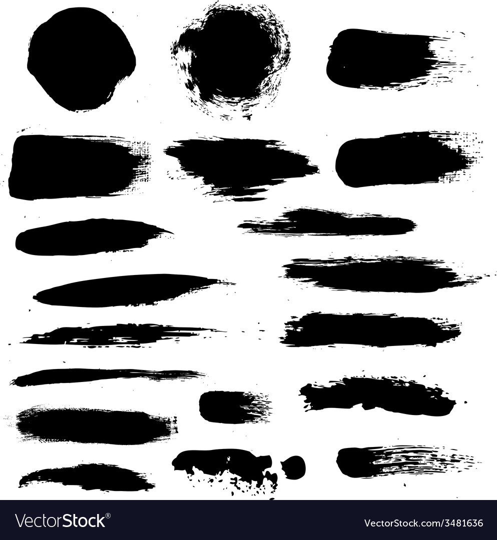 Black blobs set vector
