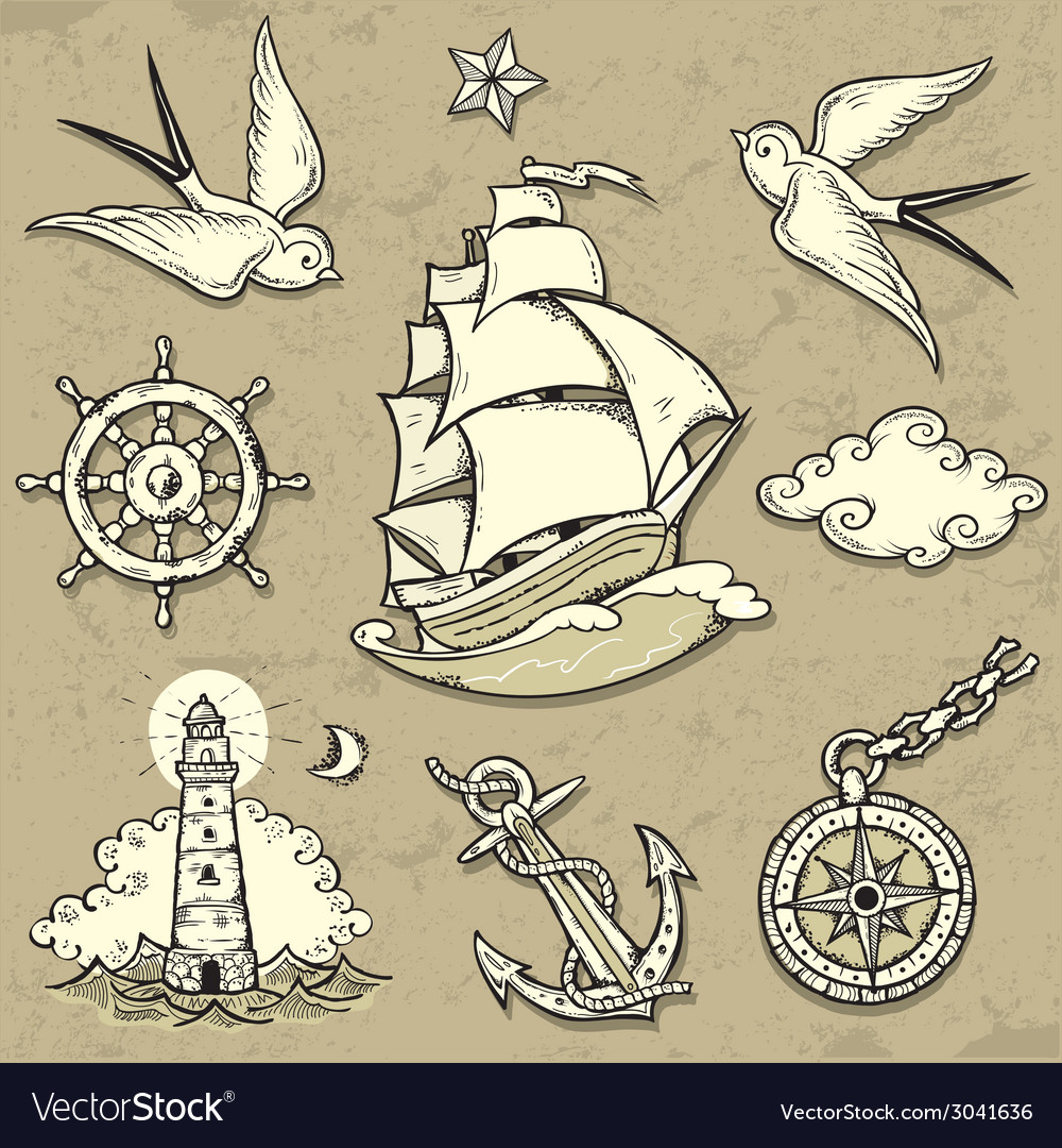 Sailor set vector