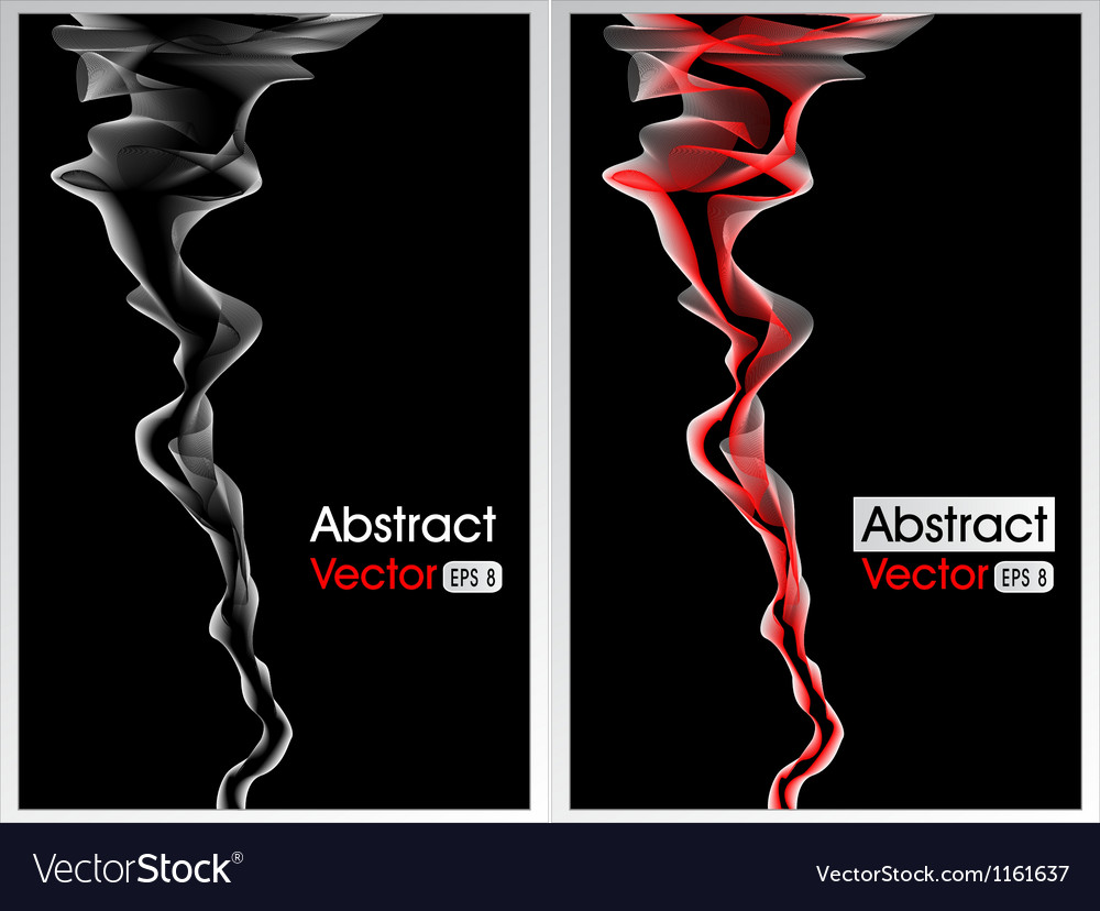 Abstract background with smoke red and white vector