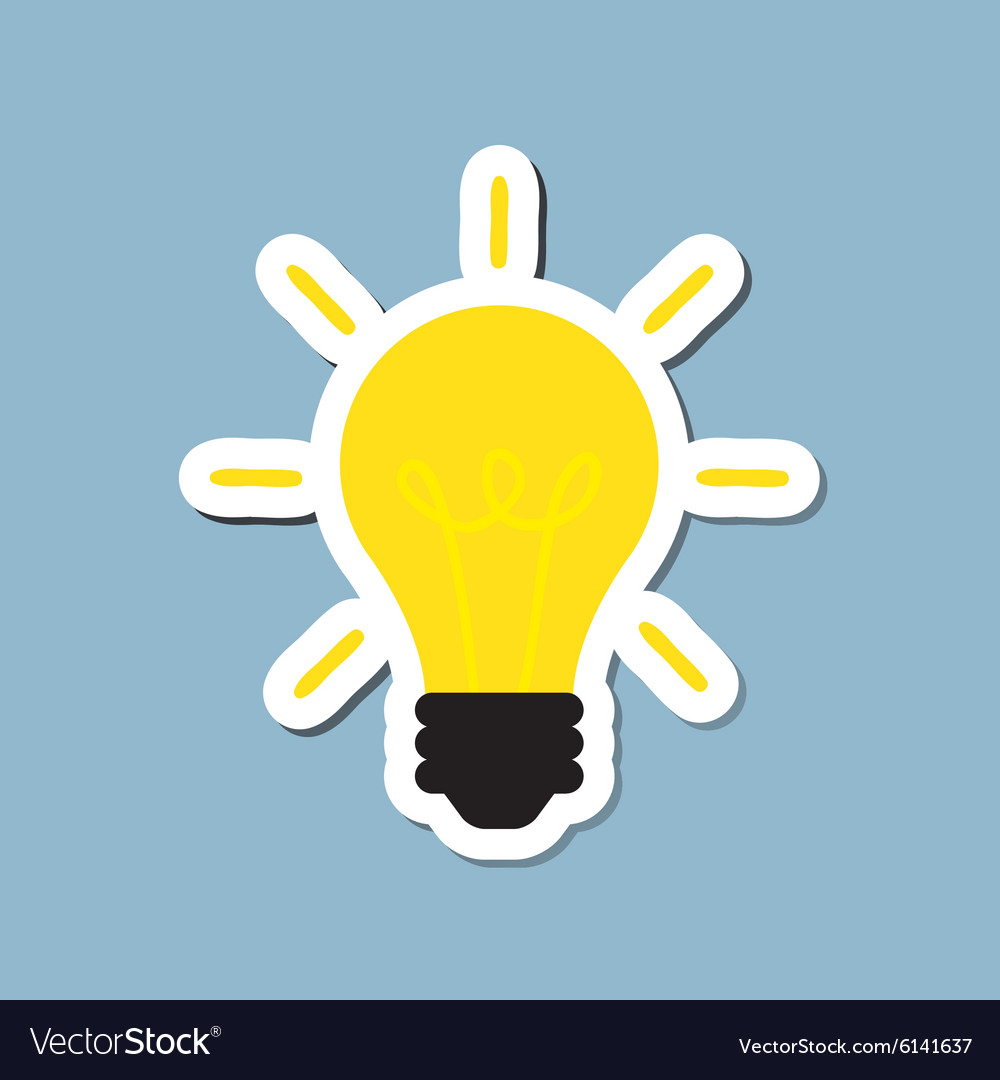 Bright light bulb vector